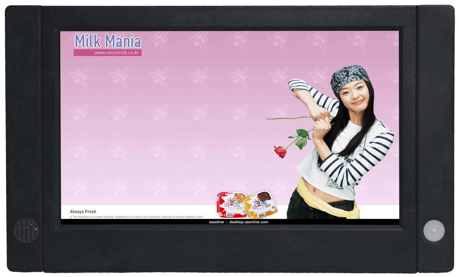 Push Button LCD Advertising Player